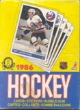 1985/86 O-Pee-Chee Hockey Wax Box