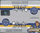 2008/09 Upper Deck O-Pee-Chee Update Hockey 24-Pack Box