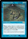 Magic the Gathering Urza's Saga Single Veiled Crocodile LIGHT PLAY (NM)