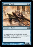 Magic the Gathering 2010 Single Horned Turtle Foil