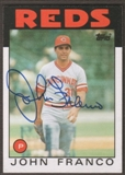 1986 Topps Baseball #54 John Franco Signed in Person Auto