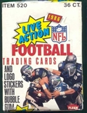 1986 Fleer Football in Action Wax Box