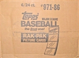 1986 Topps Baseball Rack 6-Box Case