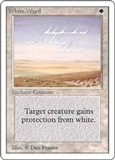 Magic the Gathering Unlimited Single White Ward LIGHT PLAY (NM)