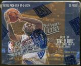 1996/97 Fleer Ultra Series 2 Basketball Retail Box