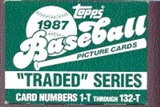 1987 Topps Traded & Rookies Baseball Factory 100 Set Case