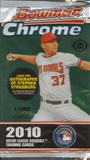 2010 Bowman Chrome Baseball Hobby Pack