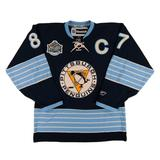 Pittsburgh Penguins #87 Sidney Crosby Reebok Navy Winter Classic 2011 Premier Jersey (Adult L)