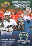 2010 Upper Deck MLL Lacrosse Hobby Set (Lot of 10)