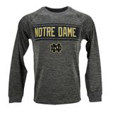 Notre Dame Fighting Irish Colosseum Grey Slate II Performance Long Sleeve Tee Shirt (Adult XL)