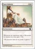 Magic the Gathering 8th Edition Single Sanctimony Foil