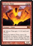 Magic the Gathering 2011 Single Inferno Titan UNPLAYED (NM/MT)