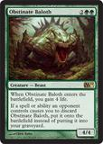Magic the Gathering 2011 Single Obstinate Baloth FOIL