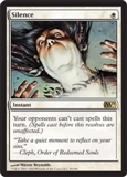 Magic the Gathering 2011 Single Silence - SLIGHT PLAY (SP)