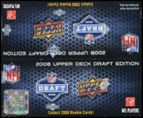 2008 Upper Deck Draft Edition Football 24-Pack Box