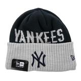 New York Yankees New Era Navy & Gray Classic Cover Cuffed Knit Hat (Adult OSFA)