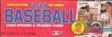 1988 Fleer Baseball Factory Set (Colorful box)