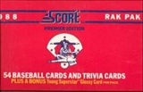 1988 Score Baseball Rack Box