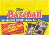 1988 Topps Stickers Baseball Wax Box