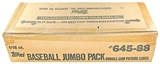 1988 Topps Baseball Jumbo Case Box (18 Giant Packs per case, 1800 cards)