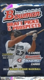 2010 Bowman Draft Picks & Prospects Baseball Hobby Pack