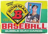 1989 Bowman Baseball Wax Box