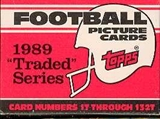 1989 Topps Traded Football Factory 50 Set Case 864-89