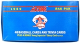 1989 Score Baseball Rack Box
