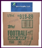1989 Topps Football Rack 3-Box Case