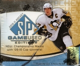 2010/11 Upper Deck SP Game Used Hockey Hobby Box
