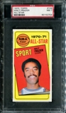 1970/71 Topps Basketball #106 Walt Frazier All Star PSA 7 (NM) *2704