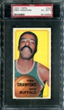 1970/71 Topps Basketball #162 Fred Crawford PSA 6 (EX-MT) *2899