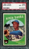 1959 Topps Baseball #350 Ernie Banks PSA 8 (NM-MT) *9367