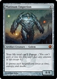 Magic the Gathering Scars of Mirrodin Single Platinum Emperion FOIL