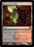Magic the Gathering Scars of Mirrodin Single Blackcleave Cliffs - SLIGHT PLAY (SP)