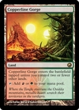 Magic the Gathering Scars of Mirrodin Single Copperline Gorge - NEAR MINT (NM)