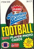 1990 Fleer Football Wax Box