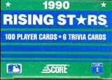 1990 Score Rising Stars Baseball Factory Set