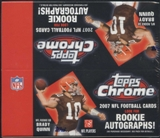 2007 Topps Chrome Football 24-Pack Box
