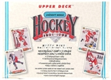 1991/92 Upper Deck Czech Hockey Retail Box