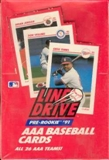 1991 Line Drive Triple A (AAA) Baseball Wax Box