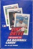 1991 Line Drive Double A (AA) Baseball Wax Box