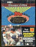 1991 Topps Stadium Club Series 1 Baseball Wax Box