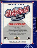 1991 Upper Deck Final Edition Baseball Factory Set