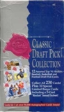 1991 Classic Draft Pick Collection Hobby Box (Four Sport)