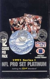 1991 Pro Set Platinum Series 1 Football Wax Box