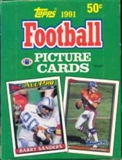 1991 Topps Football Wax Box