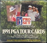 1991 Pro Set Golf Wax Box