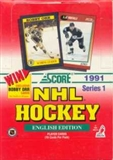 1991/92 Score Canadian English Series 1 Hockey Hobby Box