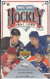 1991/92 Upper Deck English Low # Hockey Wax Box